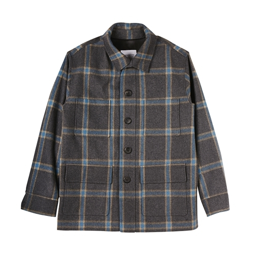 Wool Pocket Half Coat_OL048